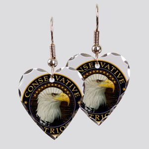 Conservative Patriot 2 Earring Heart Charm