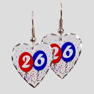 26bdayballoon Earring Heart Charm