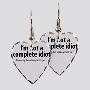 complete idiot 1 Earring Heart Charm