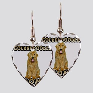 Goldendoodle Mom Earring Heart Charm