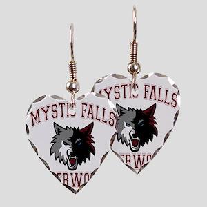 MYSTIC FALLS FOR DARK SHIRT Earring Heart Charm