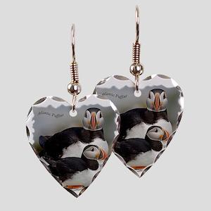 Puffin Tee Earring Heart Charm
