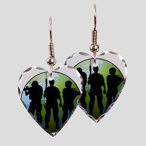 Airsoft Social Logo Men Earring Heart Charm
