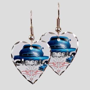 Blue_pinstripe Earring Heart Charm