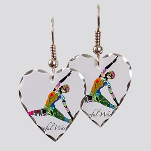 PeacefulWarriorT Earring Heart Charm