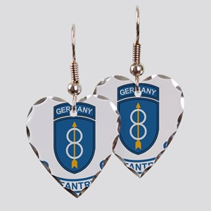 Army-8th-Infantry-Div-Germany- Earring Heart Charm