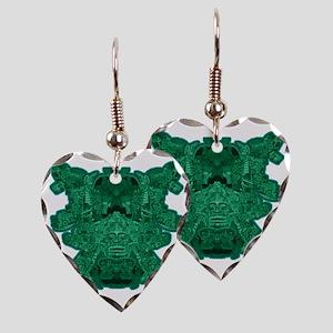 Jade Skull 1 Earring Heart Charm