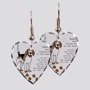 footprints-beagle copy Earring Heart Charm