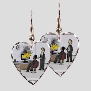 Unplug and plug back in Earring Heart Charm