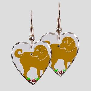 Golden Tripawds Rule - Rear Le Earring Heart Charm