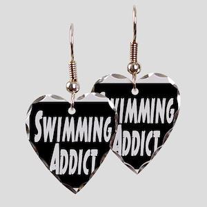 Swimming addict Earring Heart Charm