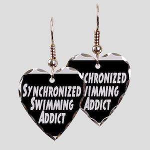 Synchronized Swimming Addict Earring Heart Charm