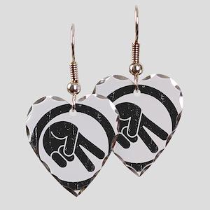 peace-biker-LTT Earring Heart Charm