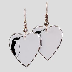 penguin3 Earring Heart Charm