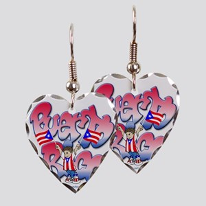 PuertoRicoGraffiti FINAL-teesh Earring Heart Charm