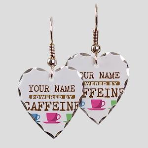 Powered by Caffeine Earring Heart Charm