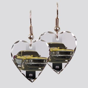 69silverbar Earring Heart Charm