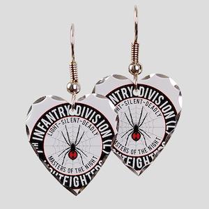 2012 Black Widow Design Earring Heart Charm