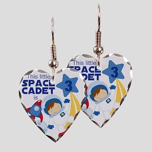 Astronaut is 3 Earring Heart Charm
