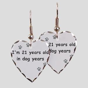 21 dog years 3 Earring Heart Charm