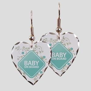 Baby on Board - Boy Earring Heart Charm