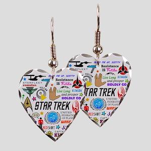 Trekkie Memories Earring Heart Charm