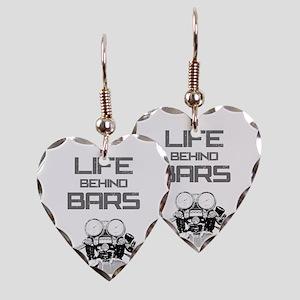 A Life Behind Bars Earring Heart Charm