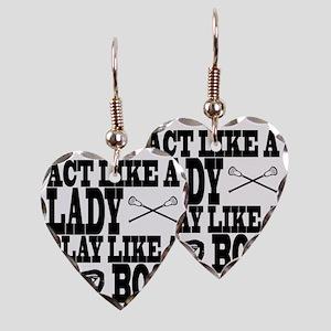 Lacrosse LadyBoss Earring Heart Charm