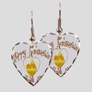 happy anniversary heart 40 Earring Heart Charm