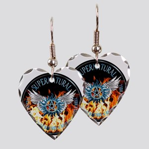 Supernatural  protection Symba Earring Heart Charm
