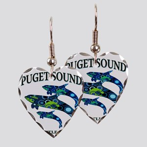 Puget Sound Orcas Earring Heart Charm