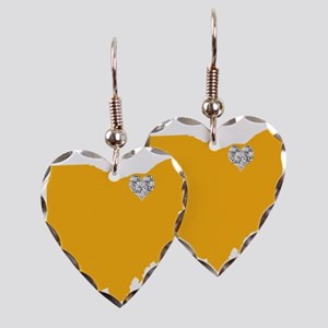 Ohio Cleveland Heart Earring Heart Charm