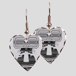 Camaro Black 1968 Earring Heart Charm