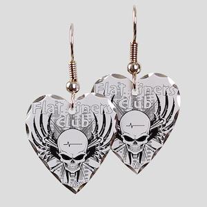 flatliner club back Earring Heart Charm