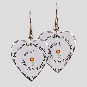 normal-4wht-flower Earring Heart Charm