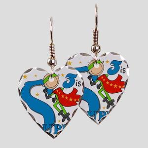 BIRTHDAYSUPER3 Earring Heart Charm