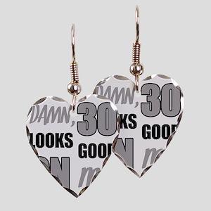Funny 30th Birthday (Damn) Earring Heart Charm