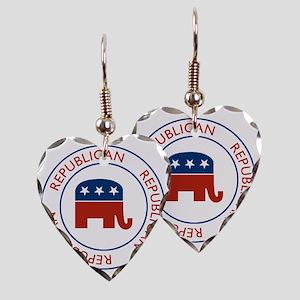 RepublicanPassport1 Earring Heart Charm