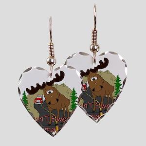 Moose fun Earring Heart Charm