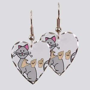 CatPainted Earring Heart Charm