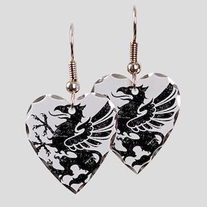 BlackGriffon Earring Heart Charm