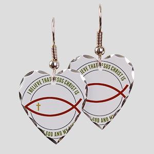 feb12_christian_fish_colors Earring Heart Charm