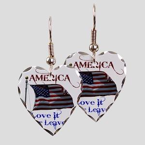 America Love It or Leave it Earring Heart Charm