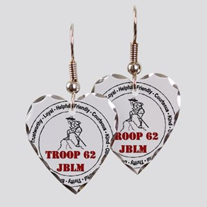 troop 62 Earring Heart Charm