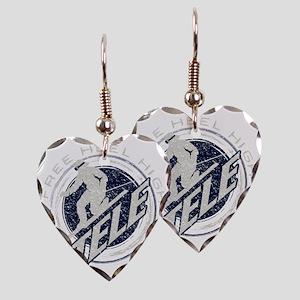 free heel high 3 Earring Heart Charm