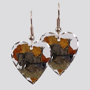 Safari Earring Heart Charm