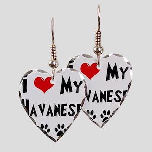 I-Love-My-Havanese Earring Heart Charm