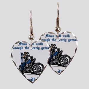 Some will walk some will ride Earring Heart Charm