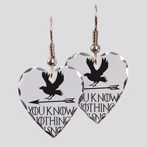 You know nothing Jon Snow Earring Heart Charm