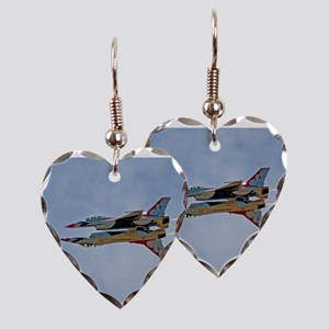 Thunderbirds 5 and 6 Earring Heart Charm
